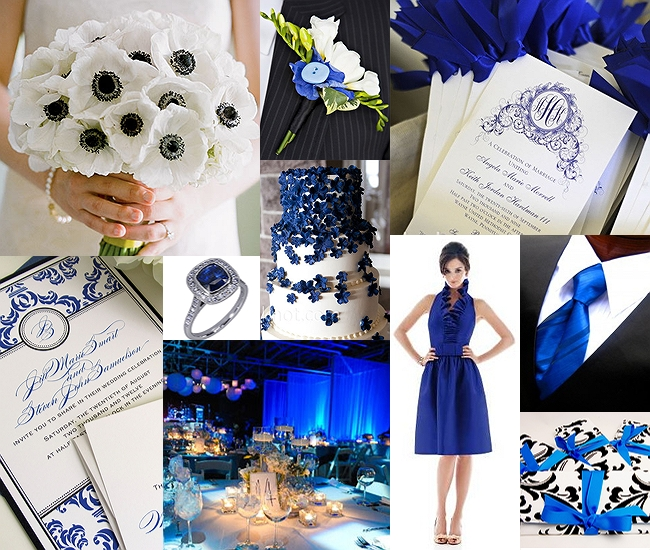 Black and Royal blue wedding color schemes