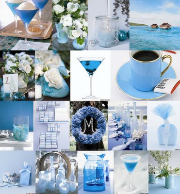 Stylish blue wedding color schemes Ideas