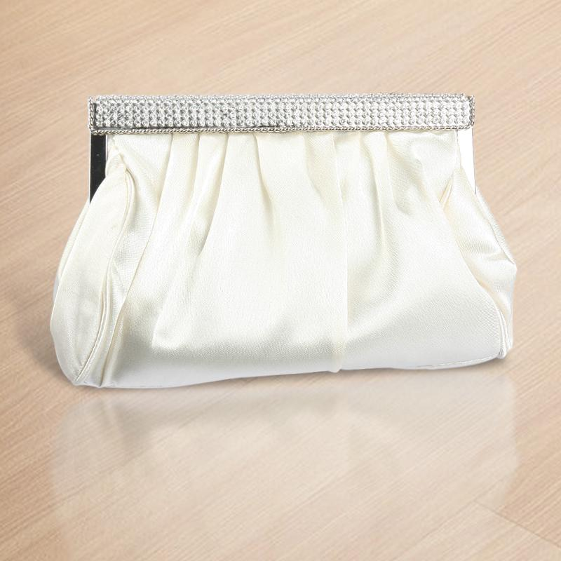 White Color Bridal Clutches