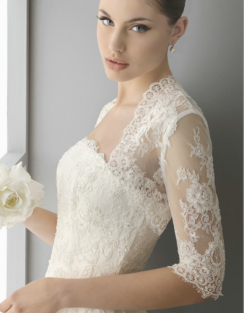 Lace bolero wedding jacket wedding for Wedding dress lace bolero