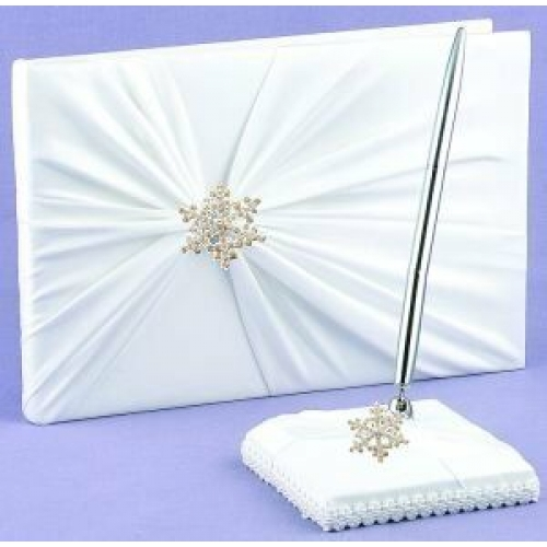 winter wedding guest books