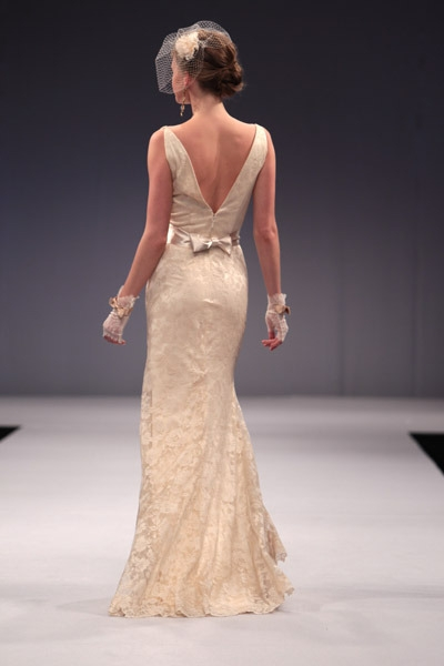 Anne Barge Bridal Gown back style