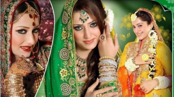 Different Pakistani Bridal Hairstyles 2013