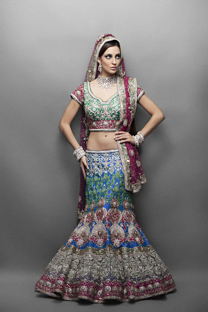 Fancy Huge Embroidery A Line Lehenga 6