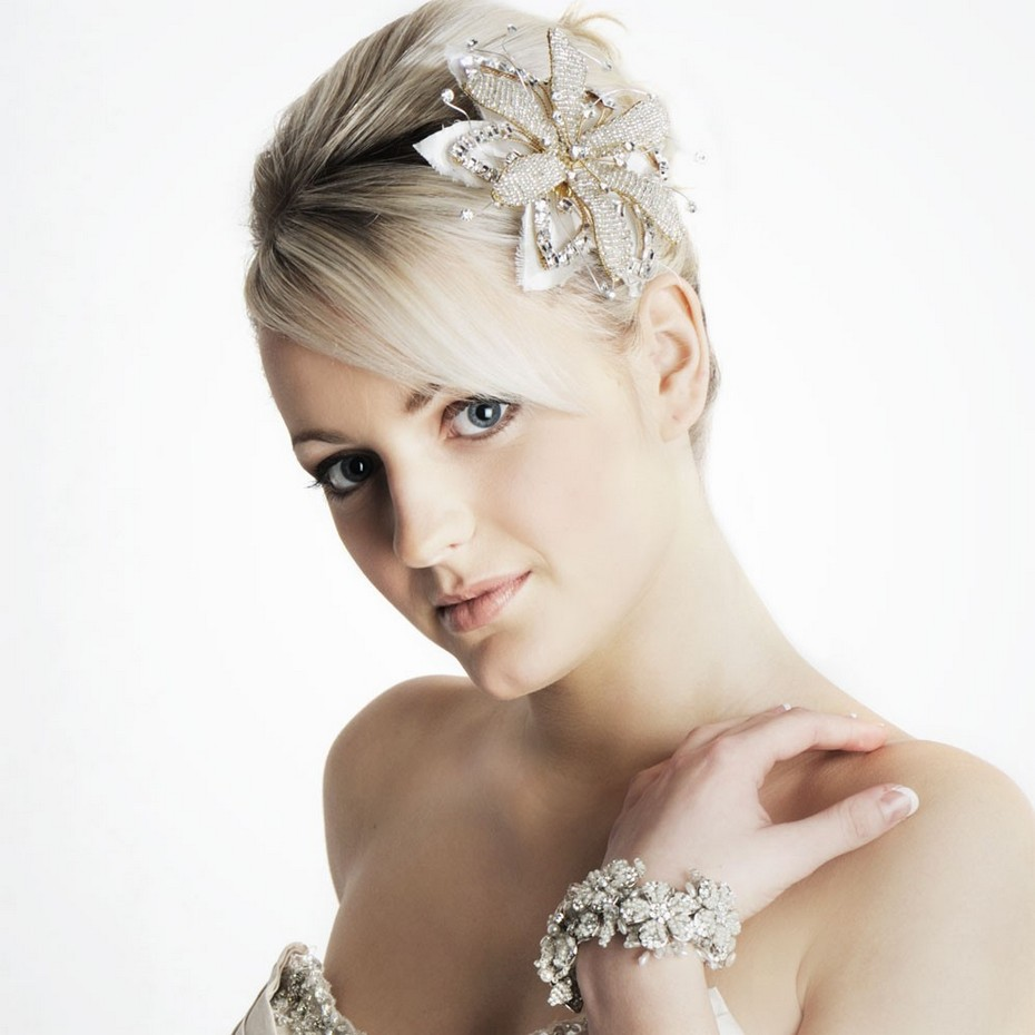 Stylish Short Hair For Bridals