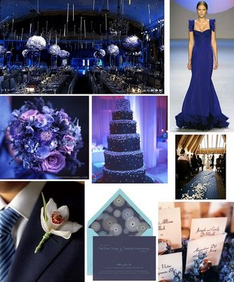 blue wedding color schemes