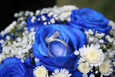 blue wedding flowers 3