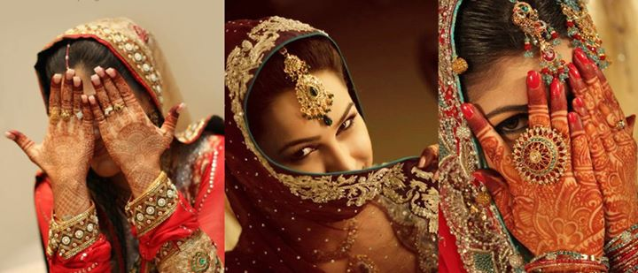 bridal in red lehenga (2)