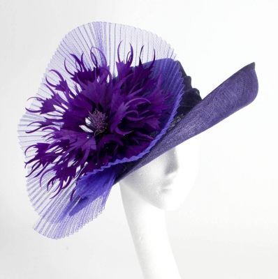 purple hats for wedding
